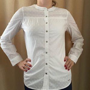 US Polo Association Women's White Regular fit Shirt